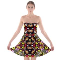 Queen Design 456 Strapless Bra Top Dress