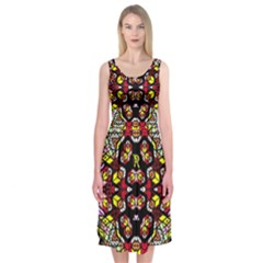 Queen Design 456 Midi Sleeveless Dress