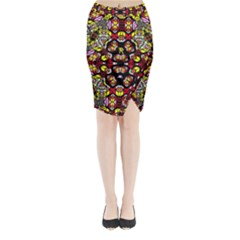 Queen Design 456 Midi Wrap Pencil Skirt