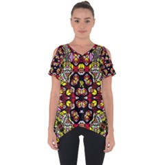 Queen Design 456 Cut Out Side Drop Tee