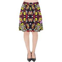 Queen Design 456 Velvet High Waist Skirt
