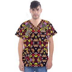 Queen Design 456 Men s V Neck Scrub Top