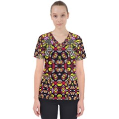 Queen Design 456 Scrub Top