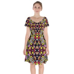 Queen Design 456 Short Sleeve Bardot Dress
