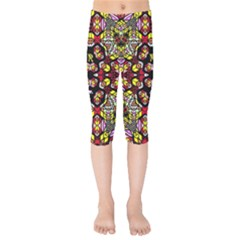 Queen Design 456 Kids  Capri Leggings