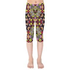 Queen Design 456 Kids  Capri Leggings
