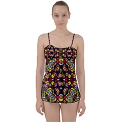 Queen Design 456 Babydoll Tankini Set