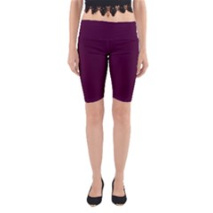 Black Cherry Yoga Cropped Leggings