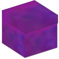 Mottled Purple Storage Stool 12