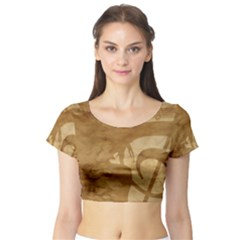 Musica Short Sleeve Crop Top (tight Fit)