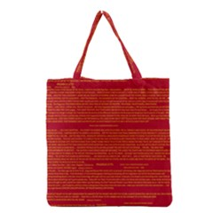 Mrtacpans Writing Grace Grocery Tote Bag