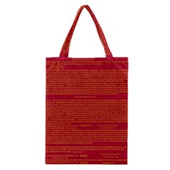 Mrtacpans Writing Grace Classic Tote Bag