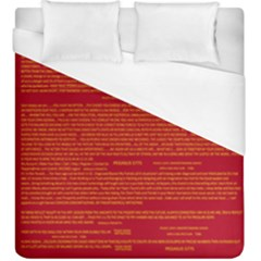 Mrtacpans Writing Grace Duvet Cover (king Size)