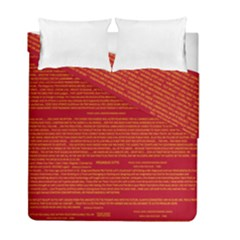 Mrtacpans Writing Grace Duvet Cover Double Side (full/ Double Size)