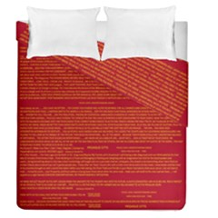 Mrtacpans Writing Grace Duvet Cover Double Side (queen Size)