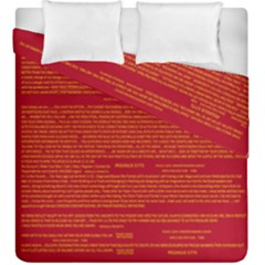 Mrtacpans Writing Grace Duvet Cover Double Side (king Size)