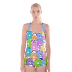 Care Bears Boyleg Halter Swimsuit