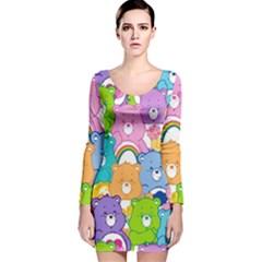 Care Bears Long Sleeve Velvet Bodycon Dress