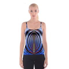 Illustration Robot Wave Rainbow Spaghetti Strap Top