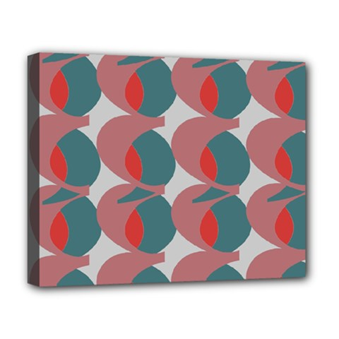 Pink Red Grey Three Art Deluxe Canvas 20  X 16