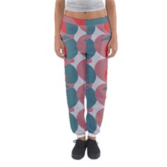 Pink Red Grey Three Art Women s Jogger Sweatpants
