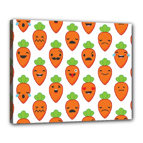 Seamless Background Carrots Emotions Illustration Face Smile Cry Cute Orange Canvas 20  X 16