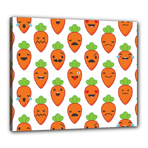 Seamless Background Carrots Emotions Illustration Face Smile Cry Cute Orange Canvas 24  X 20