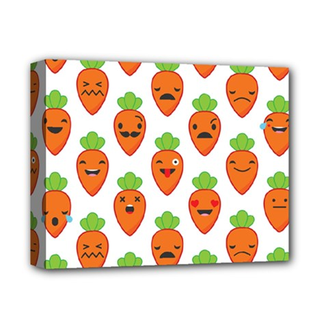 Seamless Background Carrots Emotions Illustration Face Smile Cry Cute Orange Deluxe Canvas 14  X 11