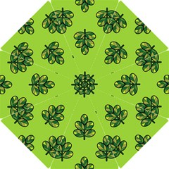 Seamless Background Green Leaves Black Outline Hook Handle Umbrellas (small)