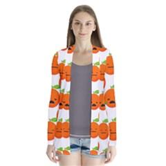 Seamless Background Orange Emotions Illustration Face Smile  Mask Fruits Drape Collar Cardigan