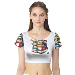 Back To School Short Sleeve Crop Top (tight Fit)