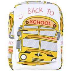 Back To School   School Bus Full Print Backpack