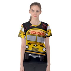 Back To School   School Bus Women s Sport Mesh Tee