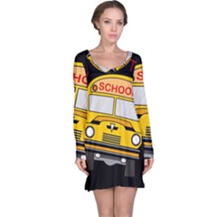 Back To School   School Bus Long Sleeve Nightdress