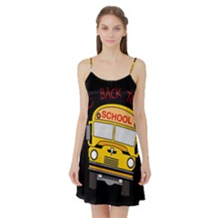Back To School   School Bus Satin Night Slip