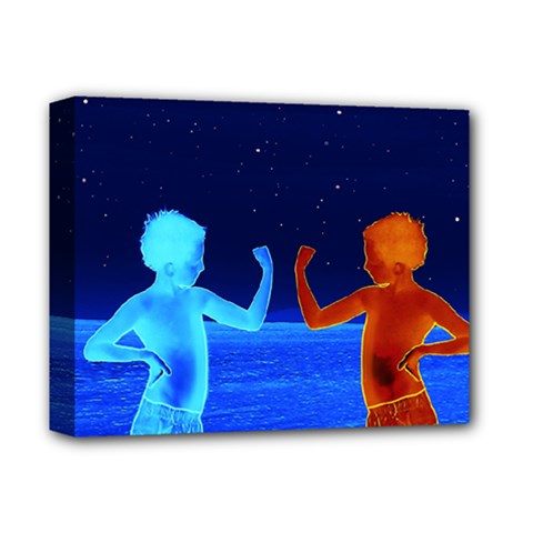 Space Boys  Deluxe Canvas 14  X 11