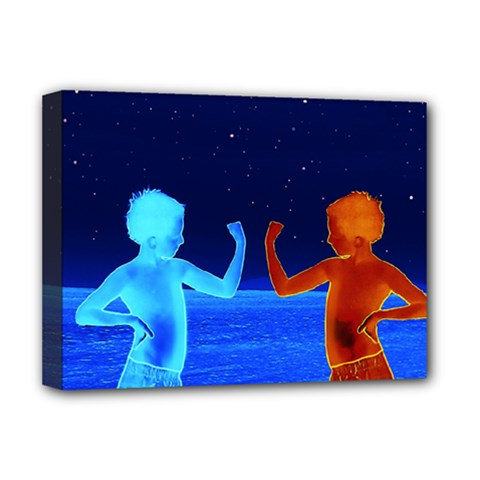 Space Boys  Deluxe Canvas 16  X 12