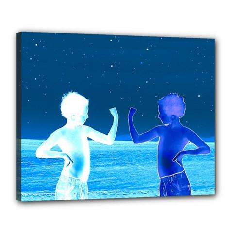 Space Boys  Canvas 20  X 16