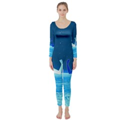 Space Boys  Long Sleeve Catsuit