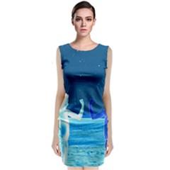 Space Boys  Classic Sleeveless Midi Dress