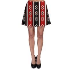 Folklore Pattern Skater Skirt