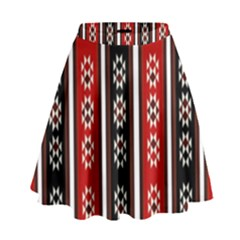 Folklore Pattern High Waist Skirt