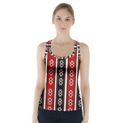 Folklore Pattern Racer Back Sports Top