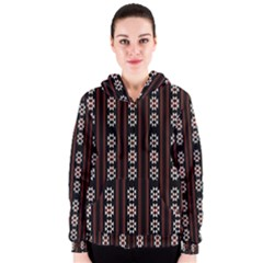 Folklore Pattern Women s Zipper Hoodie