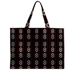 Folklore Pattern Zipper Mini Tote Bag