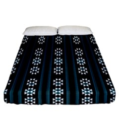 Folklore Pattern Fitted Sheet (california King Size)