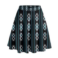Folklore Pattern High Waist Skirt