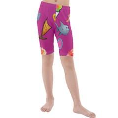 Aloha   Summer Fun 1 Kids  Mid Length Swim Shorts
