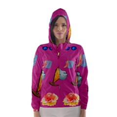 Aloha   Summer Fun 1 Hooded Wind Breaker (women)