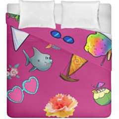 Aloha   Summer Fun 1 Duvet Cover Double Side (king Size)